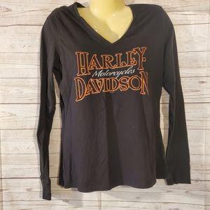 Harley Davidson Black Long Sleeve Top